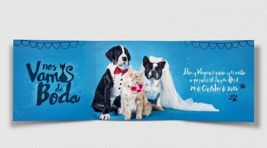Invitaciones de Boda | Daniel + Virginia… y Cleo, y Lola y Hércules…